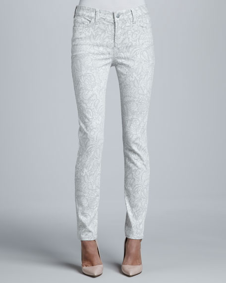 Jill Gilded Lily Print Fitted Ankle Jeans
