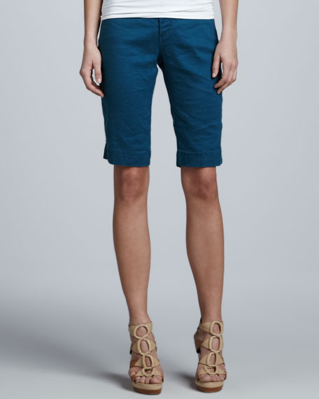 Christopher Blue Monaco Linen Liberty Bermuda Shorts