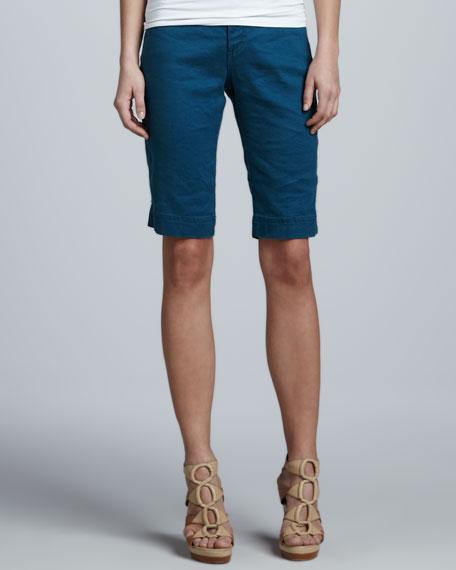 Christopher Blue Monaco Linen Liberty Bermuda Shorts