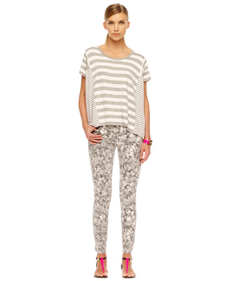 Floral-Print Skinny Jeans, Women's