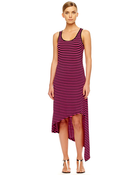 Striped Asymmetric Dress
