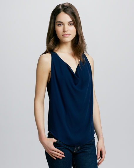 Lucy Silk Trapeze Top