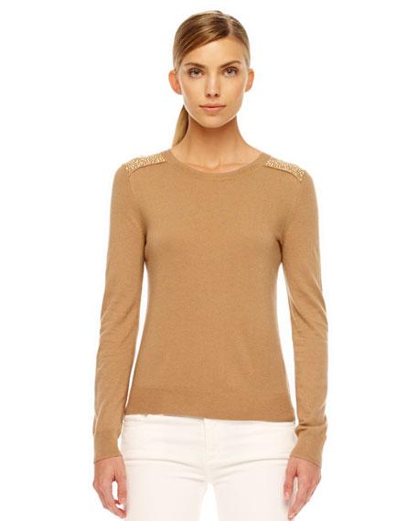 Stud-Shoulder Sweater