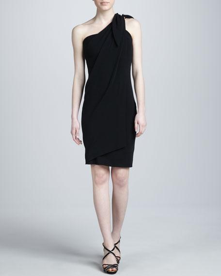 Super-Stretch Crepe Dress, Onyx