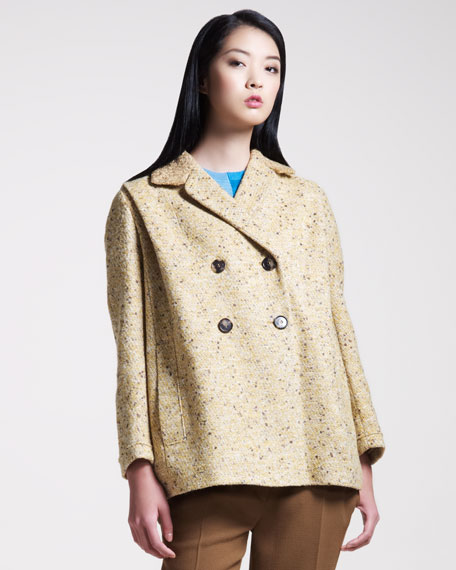 Double-Breasted Tweed Coat