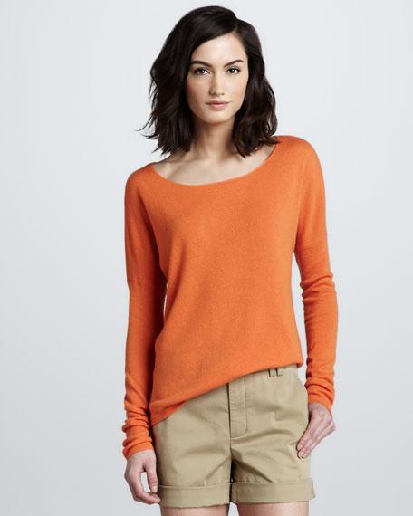 Drop-Shoulder Cashmere Sweater