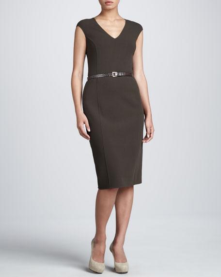 Belted Sheath Dress, Teak