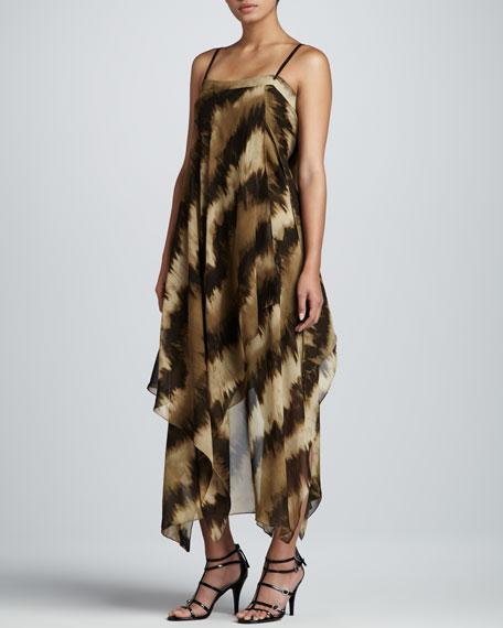 Printed Scarf Dress