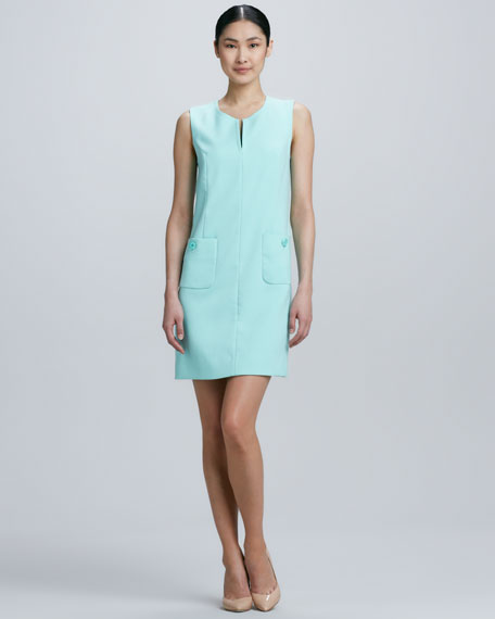 tali sleeveless pocket-front shift dress