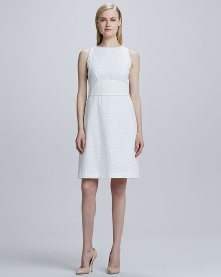 Eyelet Sleeveless Dress