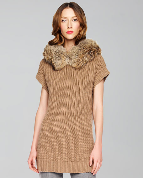Fur-Collar Sweater