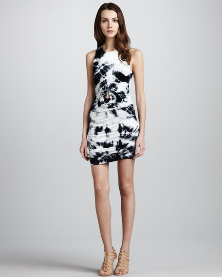 Heloise Tie-Dye Ruched Dress