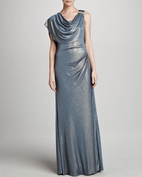 Drape-Neck Gown