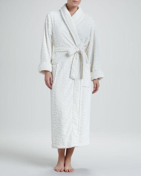 Plush Wrap Robe, Ivory