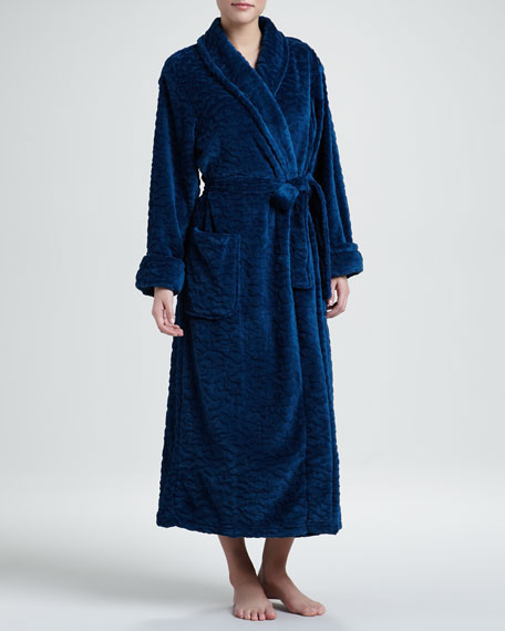 Plush Wrap Robe, Mallard Blue