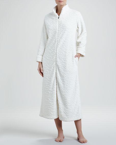 Plush Zip Robe, Ivory