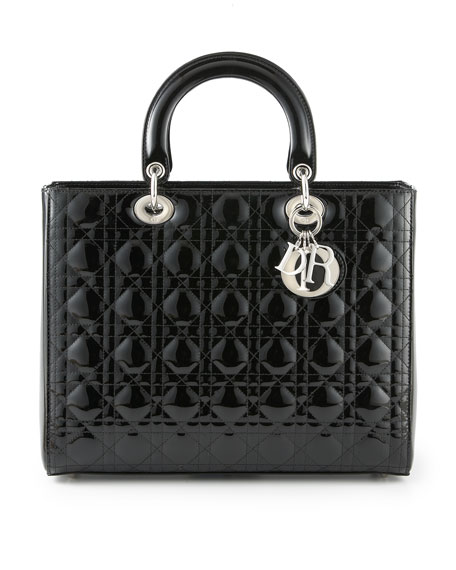 Lady Dior, Large Patent Top Handle