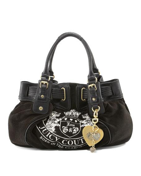 Free Style Crest Velour Bag