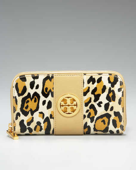 Leopard-Print Continental Wallet