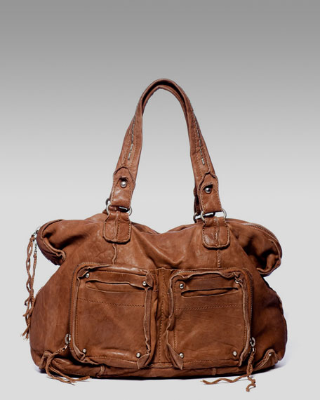 Washed Lambskin Satchel