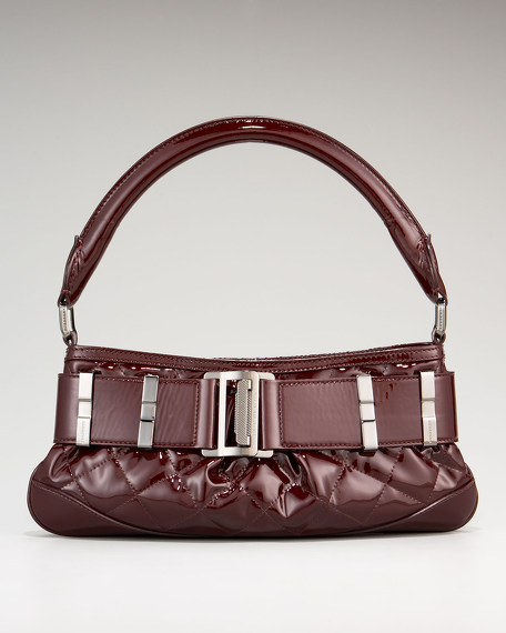 Burberry Patent Quilted Sling Shoulder Bag