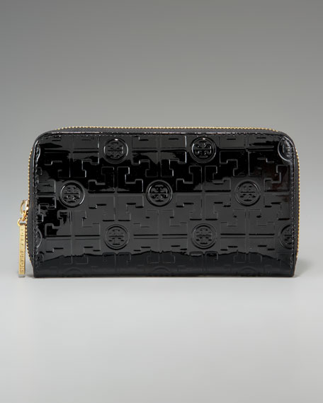 Embossed Luxe Continental Wallet