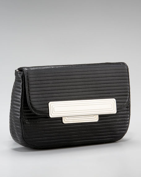 Iris Quilted Clutch