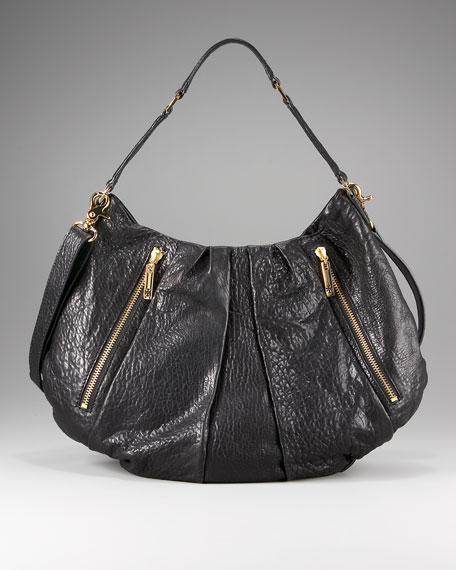 Steffi Pleated Leather Hobo