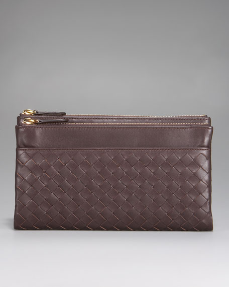 Woven Fold-Over Wallet