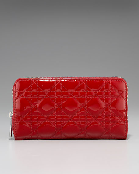 Lady Dior Patent Wallet