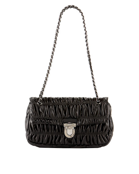 Napa Gaufre Chain Shoulder Bag