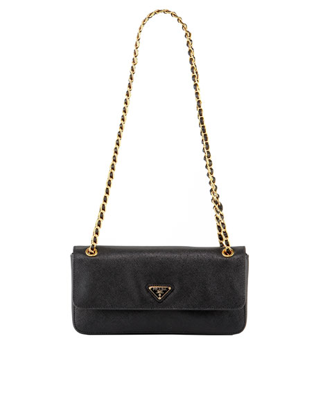 Saffiano Lux Chain Shoulder Bag