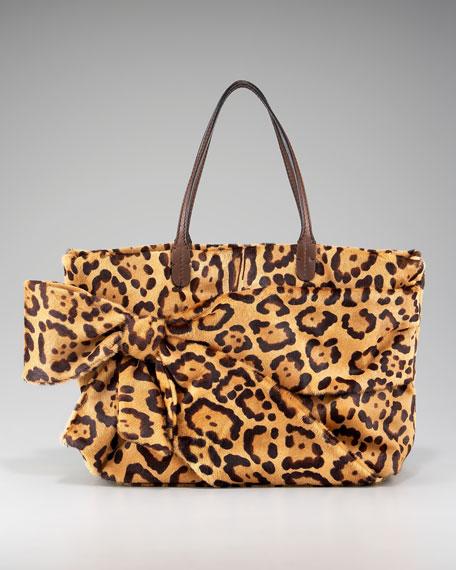 Leopard Hair Calf Bow Tote