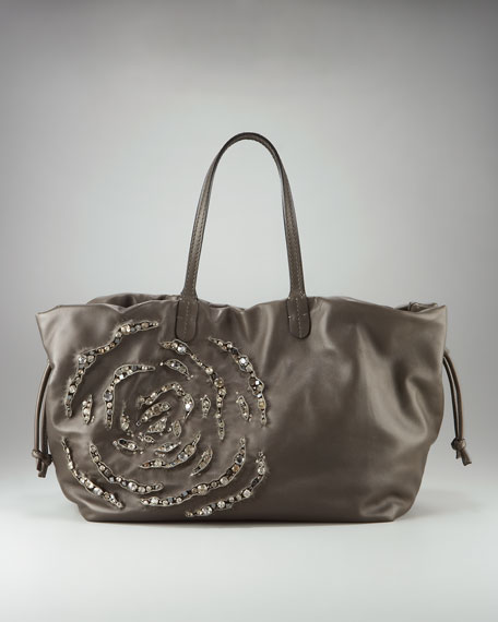 Crystal Rosette Tote