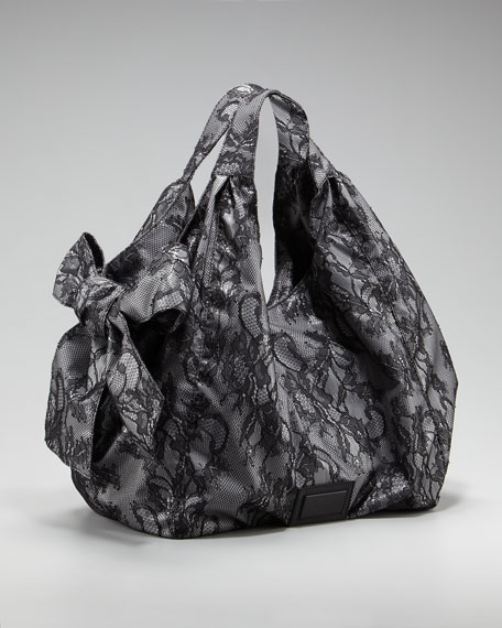 Lace Nuage Bow Tote