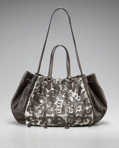 Glam Sequined Shoulder Bag