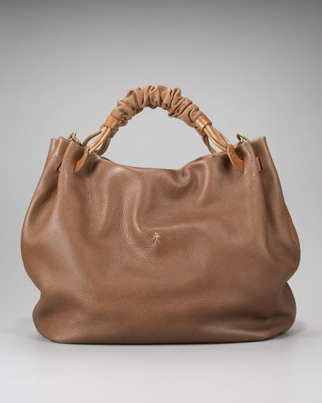 Ruched Top Handle Hobo