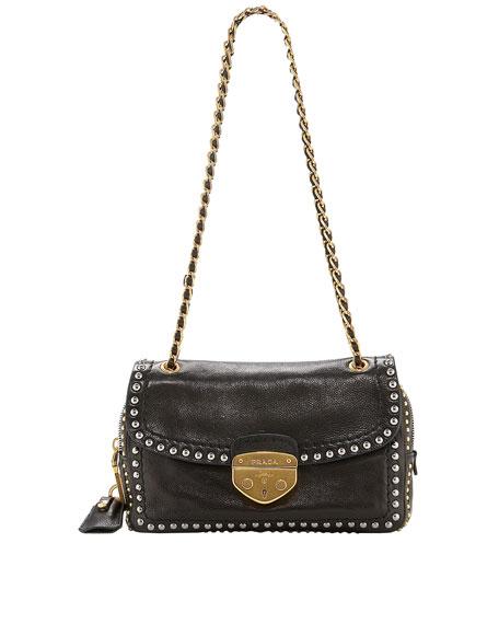 Glace Calf Chain Shoulder Bag