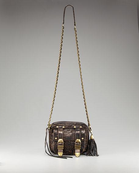 Boyfriend Alligator-Embossed Crossbody Bag