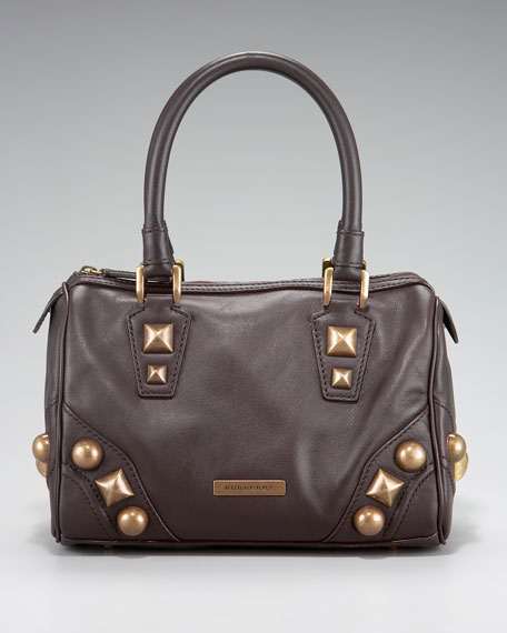 Mega-Stud Leather Satchel