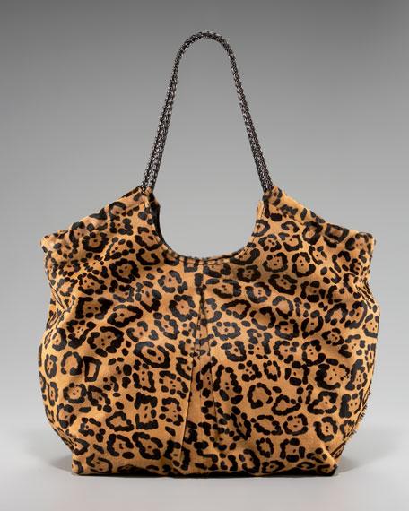 Selena Leopard Calf Hair Tote