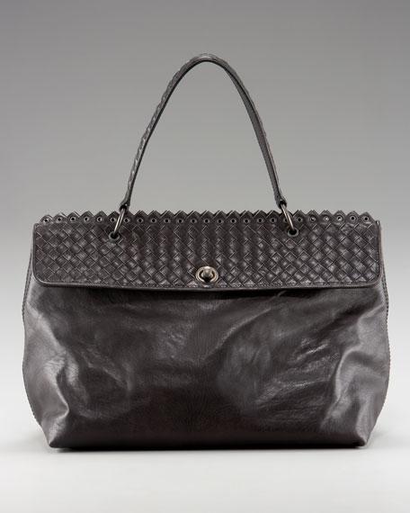 Woven Flap-Top Bag