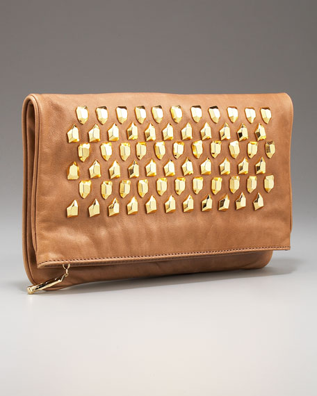 Philomena Stone-Studded Clutch