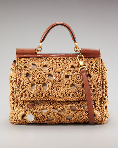 Miss Mama Floral Raffia Bag