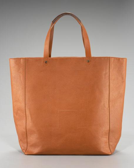 Ashleigh Leather Shopper, Tan