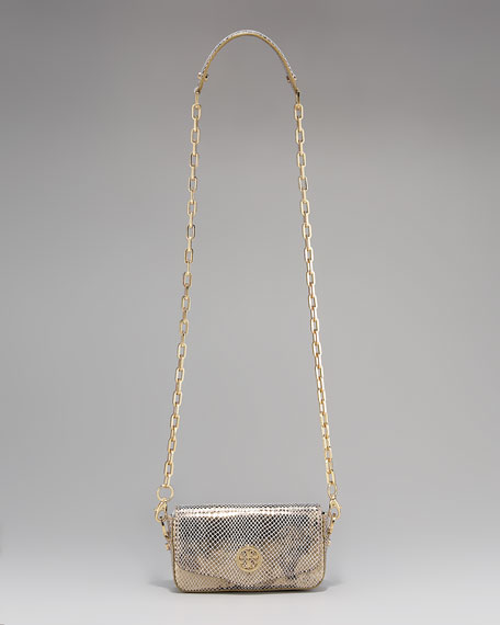 Snake-Embossed Mini Bag