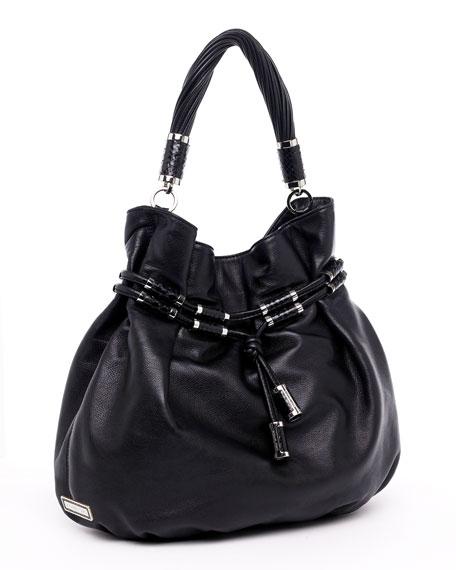 Tonne Drawstring Shoulder Bag, Black