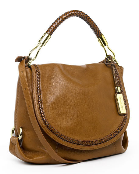 Skorpios Flap Shoulder Bag, Walnut