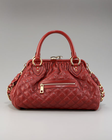 Quilted Stam Bag, Red
