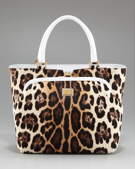Miss Ann Leopard-Print Handbag